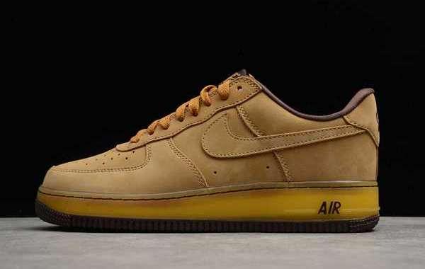 "Nike Air Force 1 Low SP ""Wheat Mocha"" Wheat/Dark Mocha 2020 DC7504-700 Hot Sell"