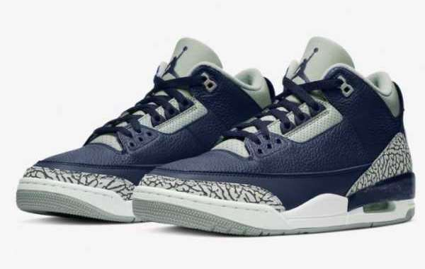 """CT8532-401 Air Jordan 3 """"Midnight Navy"""" Released In March 2021"""