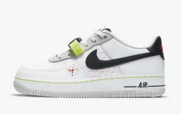 """Brand New Nike Air Force 1 LV8 """"Swoosh Compass"""" Sneaker DC2532-100"""