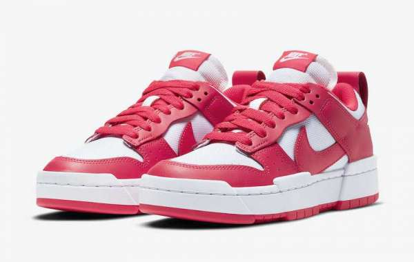 """CK6654-601 Nike Dunk Low Disrupt """"Siren Red"""" Coming Soon"""