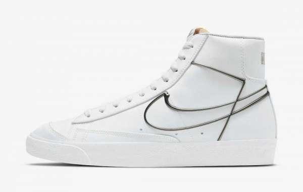 "Nike Blazer Mid 77 ""Metallic Pewter"" 2021 New Arrival DH4099-100"