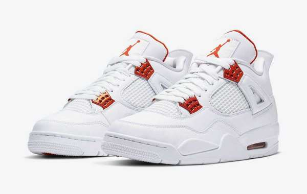 Where To Buy The Nike Air Jordan 4 Orange Metallic CT8527-118 Shoes?